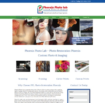 Affordable Web Design AZ phoenix photo lab