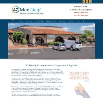 Web Design az mediquip
