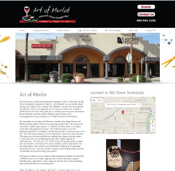 Affordable Web Design Art of merlot